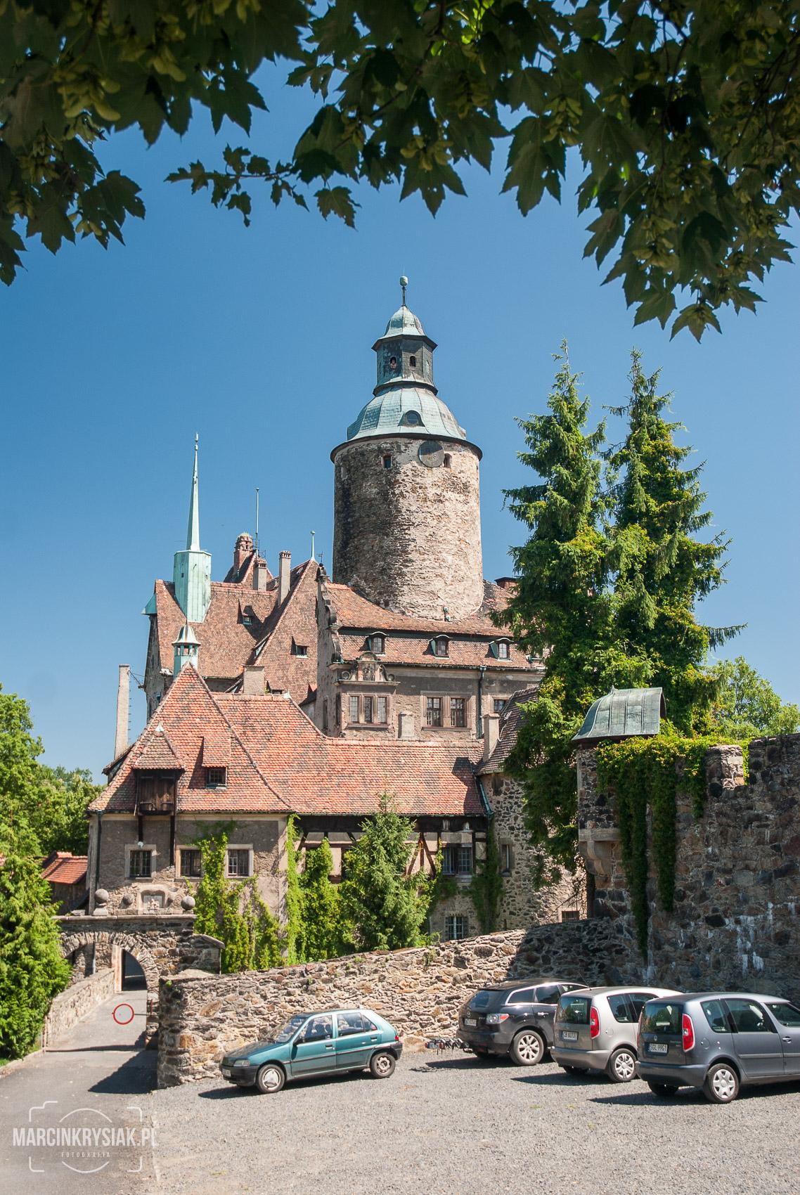 Zamek, Czocha, przód, pion, Le¶na, Polska