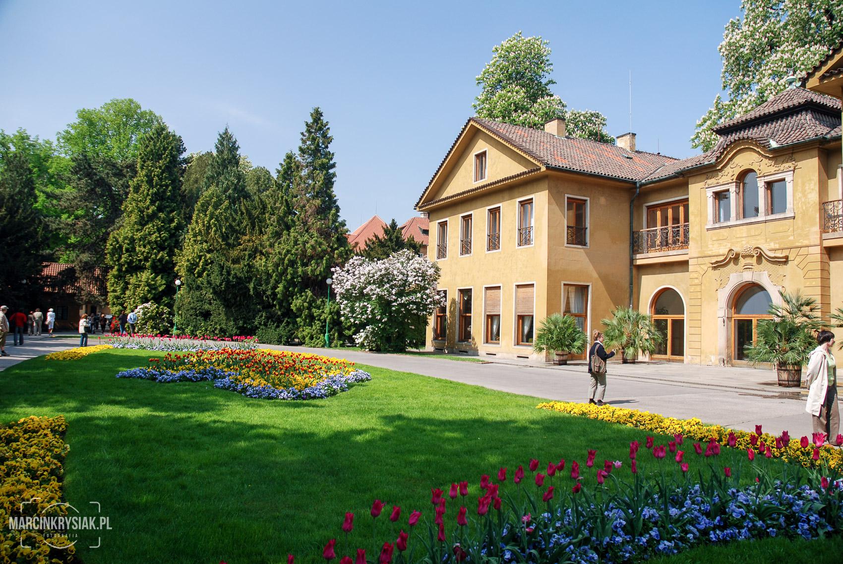 ogród, miasto, stolica, Praga, Czechy