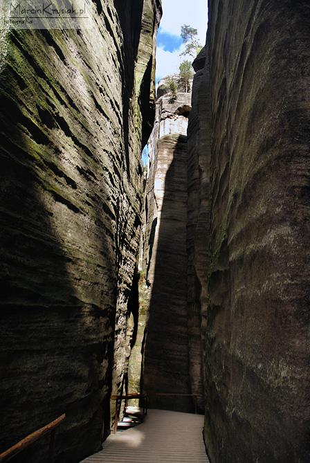 skalne, miasto, Adrspach, Czechy