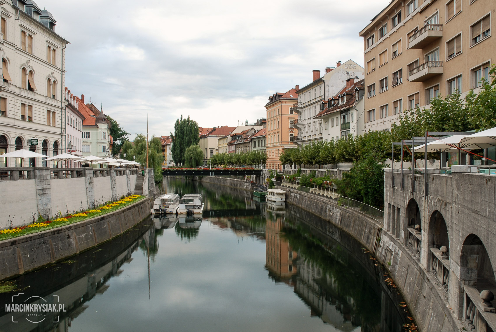 miasto, starówka, woda, rzeka, stolica, Lublana, Lubljana, Słowenia, odbicie