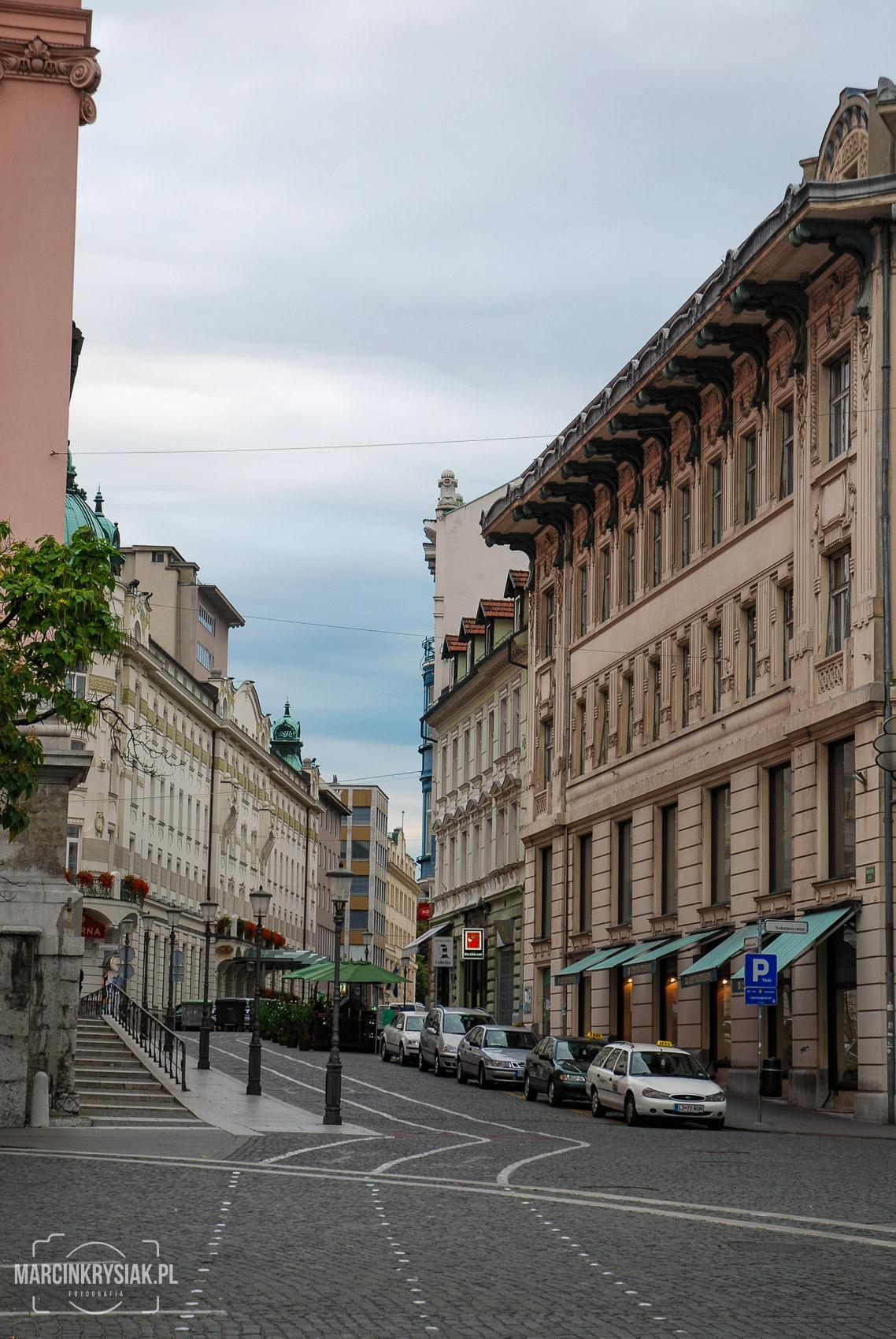 kamienice, miasto, Lublana, stolica, centrum, kwiatki, Słowenia